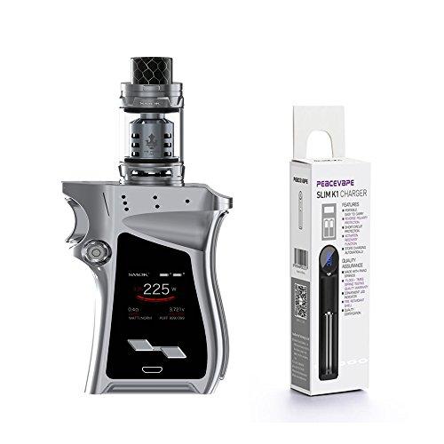 Authentique SMOK MAG KIT avec TFV12 Prince Tank 225W (Chrome) Cigarette électronique Inclusa PEACEVAPE ™ 18650 Chargeur