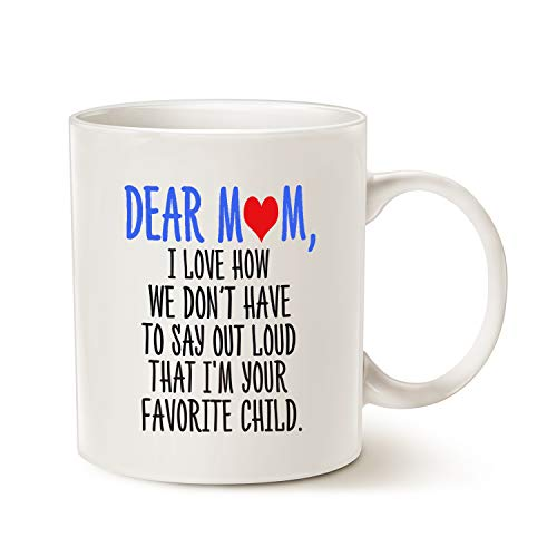This Might Be Wine Funny Mother 's Day Gifts Kaffee Tasse für Mama-DEAR Mom, I 'm your favorite Kind Kaffee Becher, Best Mütter Tag Geschenk für Mutter, Mutter, Oma Porzellan Tasse, weiß, 14oz (Kaffee Day Becher Mothers)