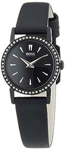 Boss - 1502357 - Montre Femme - Quartz Analogique - Bracelet Cuir Noir