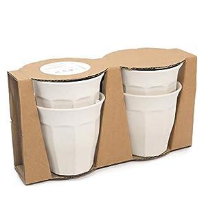 Nordal Bambus Mug/Becher 4er Set beige