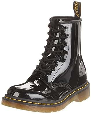 Dr. Martens 1460 Patent Damen Bootsschuhe, Schwarz (Black), England Erwachsene  10