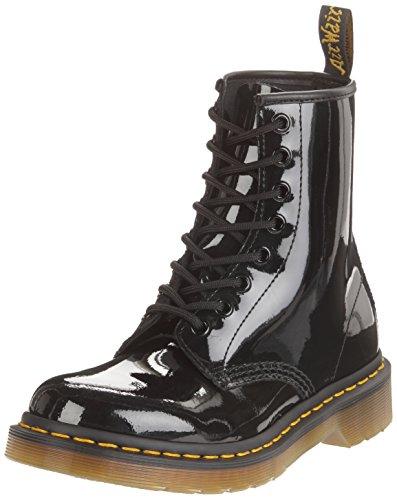 Dr. Martens 1460 Patent BLACK, Damen Bootsschuhe, Schwarz (Black), 43 EU (9 Damen UK)