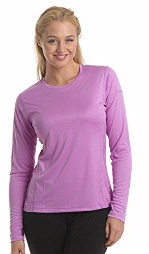 Top da donna girocollo a manica lunga, cotone tinta unita qualità - attraenti colori (Ref: 2215) Lilac