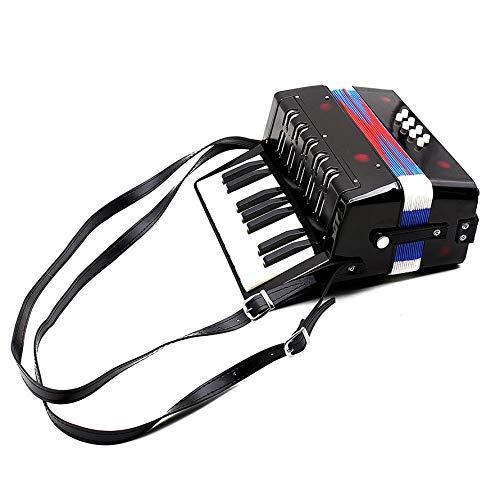 HoganeyVan 17-Tasten 8 Bass Mini Akkordeon Musikspielzeug für pädagogisches Musikinstrument Simulation Lernen Concertina Rhythmus