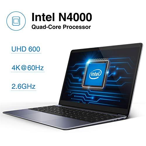CHUWI HeroBook Pro Ordenador Portátil Ultrabook 14.1  Intel Geminil Lake N4000 hasta 2.6 GHz,  4K 1920*1080,  Windows 10,  8G RAM 256G SSD,  WiFi,  USB 3.0,  38Wh
