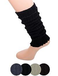 Sirven Mujer legwarmer Invierno de punto (marrón)