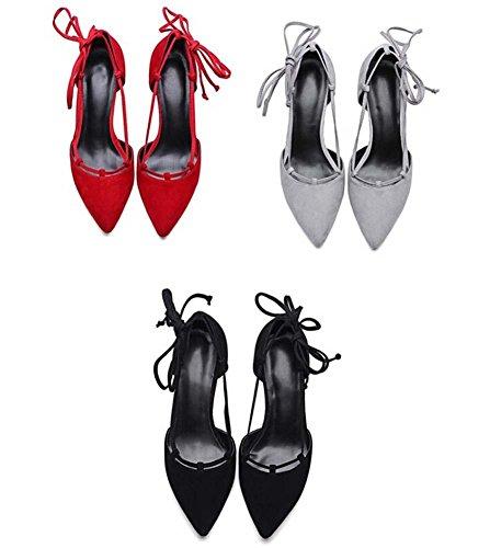 Beauqueen Casual Pumps Party Work Scrub Schuhe Sommer Frauen Slingbacks Stiletto Einfache Vintage Europa Größe 34-39 Red