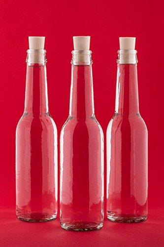 casa-vetro 6, 12, 24 Stück Glasflaschen 275 ml Antik-SPI Korken Saftflaschen Kleine Weinflaschen...