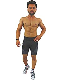Akaira Men's & Women Dry fit Shorts for Gym,Cycling Shorts,Swimming Shorts,Yoga Shorts, Joggers, Running Shorts. Fully Body Fitted Shorts, Tights, a Multi Purpose 4 Way Stretch Product.