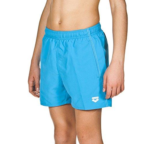 arena Jungen Badeshortss Fundamentals Boxer (Schnelltrocknend, Seitentaschen, Kordelzug, Weiches Material), Pix Blue-White (811), 140