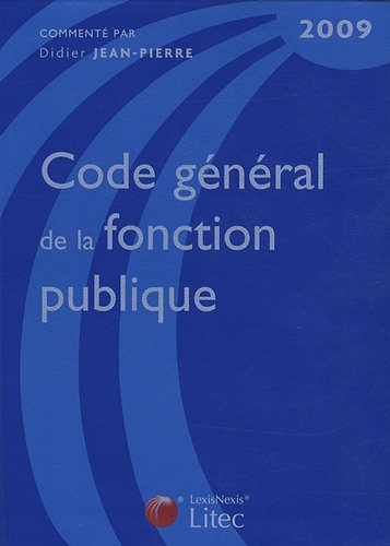 Code général de la fonction publique 2009