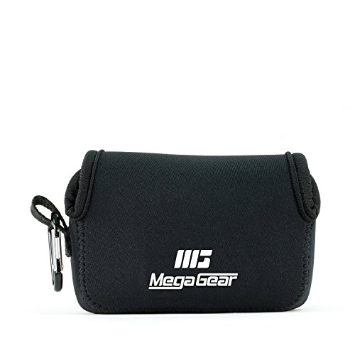 MegaGear MG804 - Estuche de cámara ultra ligero, de neopreno Para Fujifilm FinePix XP130, XP120, XP90, Negro