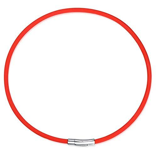 WY-Armband Titanstahl Halskette Negative Ionenhalsband Sporthalsband 46 cm Modern a