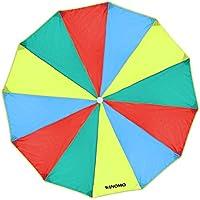 WINOMO Kids Play Parachute Rainbow Kindergarten Juguete de educación temprana para Fiestas Deportes Actividades Grupo Ejercicio al Aire Libre