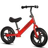 GHL Kind Fahrrad 2-6 Jahre alt Männer und Frauen Walker 12 Zoll Kein Pedal Auto ausbalancieren,Red