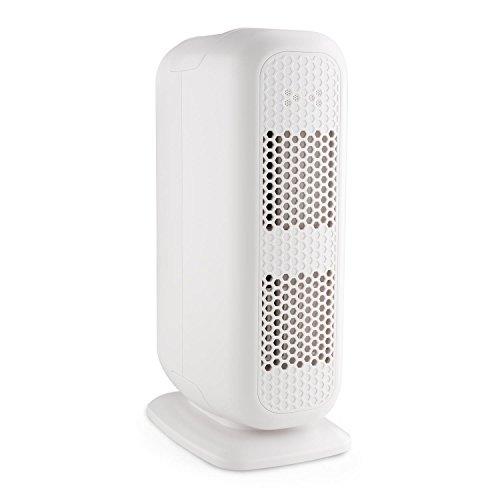 Klarstein Davos - Purificateur d'air 5 en 1 ioniseur à 3 filtres Contre Allergies, Pollen, odeurs de Tabac (filtres acharbon Actif, HEPA et TiO2, Silencieux, pour pièces de 20m²) - Blanc