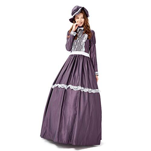 Dunkle Kostüm Elfen Halloween - SUMTTER Halloween Cosplay Kostüm Mittelalterliche Kleid Vintage Maxikleid Abendkleid Cocktailkleid Gothic Prinzessin Kleid