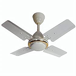 Eurolex Royal White 600MM (24 Inch) 65Watts Ceiling Fan