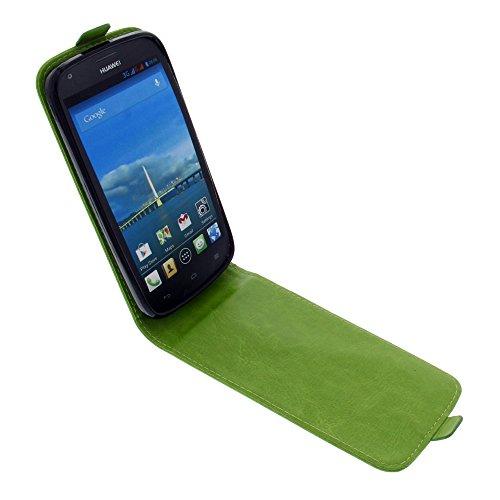 foto-kontor Tasche für Huawei Ascend Y600 Smartphone Flipstyle Schutz Hülle grün