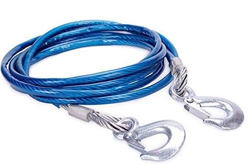 Silence-Shopping Câble de remorquage, Ceinture de remorquage Robuste jusqu'à 5 tonnes, Longueur de 4 mètres (Bleu)