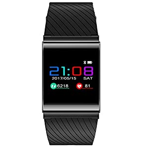 Farbbildschirm, elektronische Uhr, Fitness-Tracker, Schrittzähler, wasserdicht, Wecker, Unisex