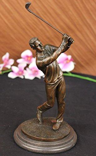 Rare Bronze à la main Sculpture Bronze Statue Golfeur W. Club de swing par Milo original signé Figurine-Nr Ukep-223- collection Décor cadeau