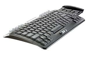 Vivanco Bazoo Wingboard kompakte Tastatur im Cockpit-Design mit ausziehbaren Nummernblock, USB Hub, ausziehbarem Nummernblock und 28 Sondertasten