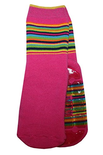 Weri Spezials Unisexe Bebes Voll-ABS-Turtle Chaussettes Colorful mondiale! Pink 12-24 Mois (19-22)