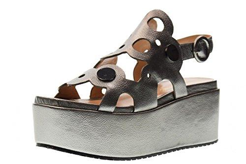 Bruno Premi Chaussures Femme Sandales avec Plateforme R5002G Steel