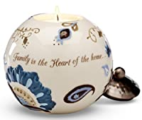 Pavilion Gift Company Perfectly Paisley 3-3/4-Inch Round Candle Holder, Family