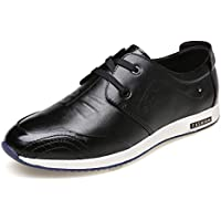AIMENGA Calzado De Hombre Calzado Casual De Hombre Otoño Calzado Casual De Hombre Calzado Salvaje Moda De Hombre, Negro, 43