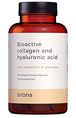 Marine Collagen Supplement with Hyaluronic Acid, Vitamin C, Vitamin E and Biotin | 120 Delayed Release Marine Collagen Capsules | 2 Months Supply