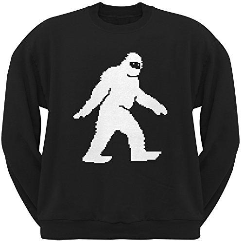 8-Bit Sasquatch Black Crew Neck Sweatshirt Herren Sweatshirt Schwarz Schwarz Gr. X-Large, Schwarz (Punk-band-retro-rock-shirt)