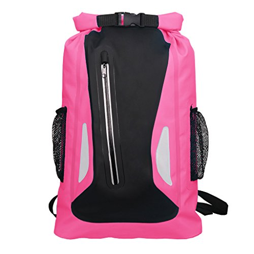 Premium Waterproof Dry Bag 25 Litres Backpack with Padded Shoulder Straps, For All Watersports, Rafting, Boating, Kayaking, Camping, Hiking or Beach