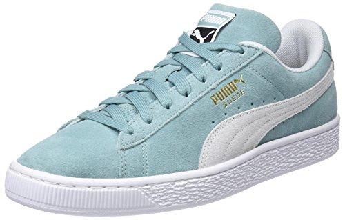 Puma Unisex-Erwachsene Suede Classic Sneaker, Grün (Aquifer White), 44.5 EU (Leder-sohle-lace Up Schuh)