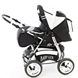 Kinderwagen King Cosmic Black & Snow