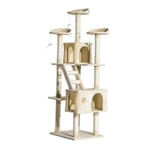 centro gatos: Rascador Gato Altura 180x60x50cm Arbol Poste Gato Arañar Centro Actividad Beige