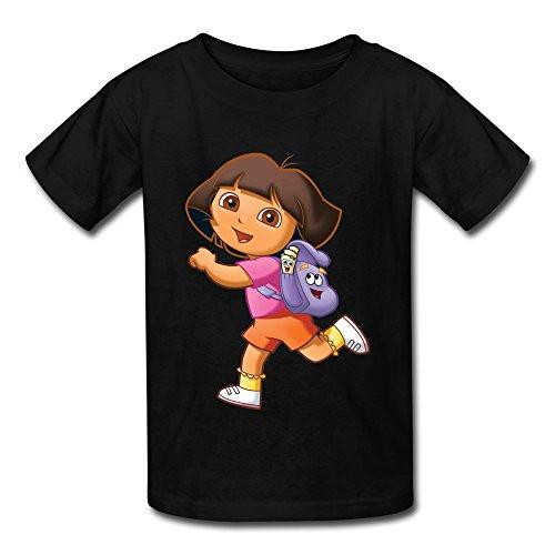 Dora Explorer Kinder Jungen und Mädchen T Shirt Gr. M, schwarz ()