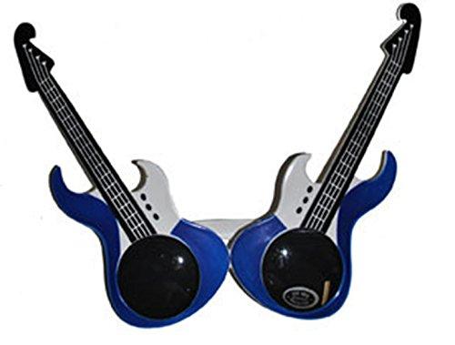 Kostüme Männer Für Samba (Halloweenia - Kostüm Brille - Gitarren Musik Schlagermove Rockabilly Party,)