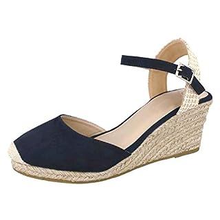 Lora Dora Womens Hessian Wedge Sandals Navy 6 UK