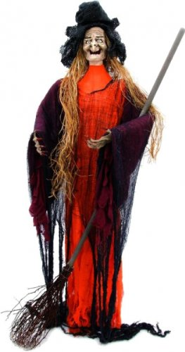 EUROPALMS Halloween Figur Hexe mit Strohhaaren