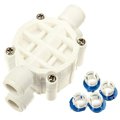 XUJJA 1/4 Zoll 4 Way Reverse Wasserfilter Auto Absperrventile Osmose System -