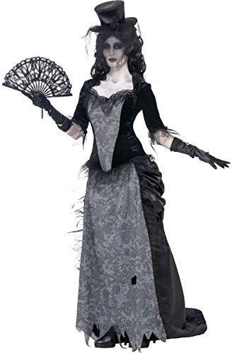 r Westen Witwe Ghost Town Mädchen Saloon Halloween Kostüm Kleid Outfit 8-18 - Schwarz, 12-14 (Saloon Mädchen Halloween Kostüme)