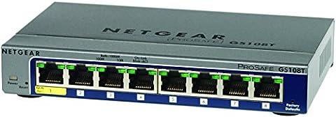 NETGEAR GS108Tv2 8-Port Gigabit Smart Managed Pro Switch, ProSAFE Lifetime