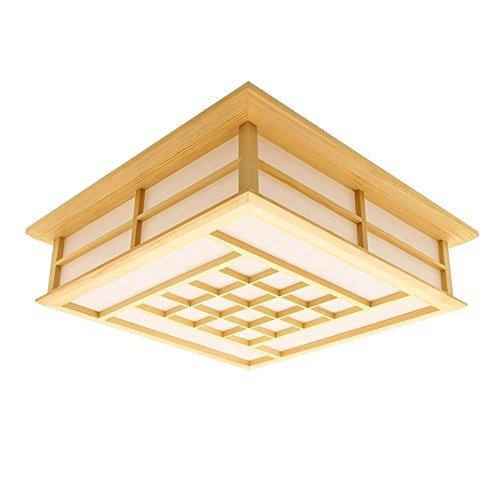 QIYUEQI Candelabro de madera japonesa LED Lámpara de techo ...