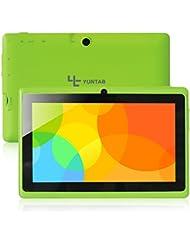 "Yuntab Q88 A33 - Tablet de 7"" (WiFi, Allwinner AYuntab Q88 Tablet de 7'' (WiFi, Quad-Core, Android 4.4.2 KitKat , HD 1024x600, 32 GB, 8GB ROM, Doble Cámara, Google Play) Color verde"