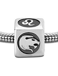 Abalorio charm de plata de ley - 26 Letra A -Z y 12 Horóscopo Zodíaco - Aquarius - Piscis y encantos mixtos - para Pandora /Troll / Chamilia pulseras