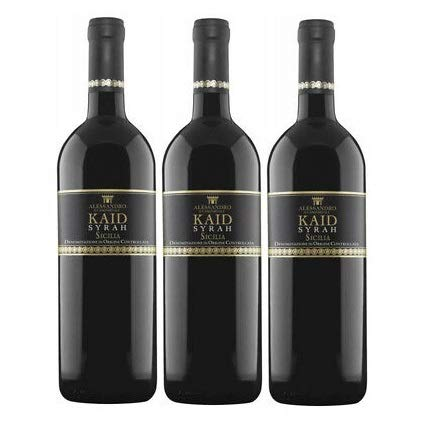Vino Rosso Kaird Syrah   2016   Alessandro Di Camporeale - 3 Bottiglie