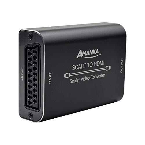 AMANKA Convertidor euroconector HDMI 1080P SCART HDMI