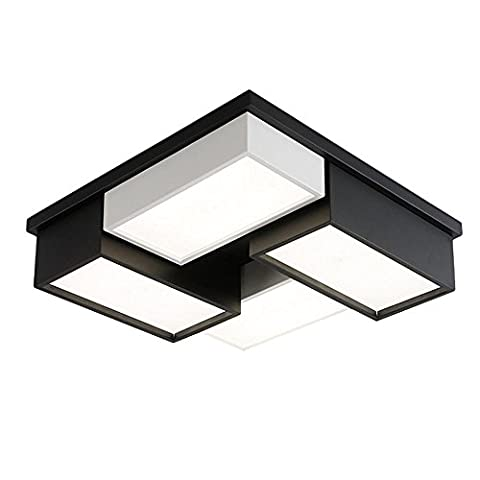 Wohnzimmer Deckenlampe HausLeuchten Deckenleuchte Schlafzimmer Kinderzimmer Lampe 4-flammig Schwarz und Weiß Home Beleuchtung Dekoration 62cm*62cm*15cm 48W